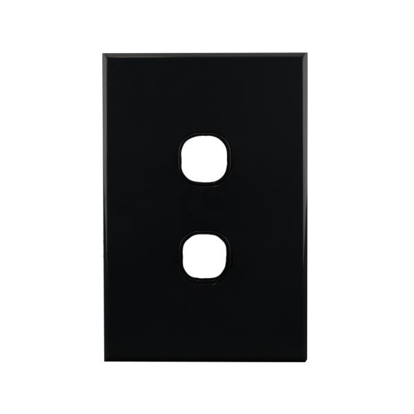 2 Gang Grid Plate BLACK | BASIX S Series