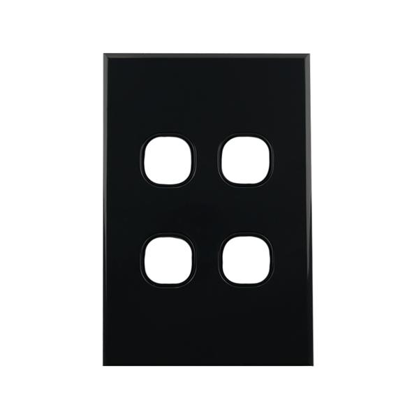 4 Gang Grid Plate BLACK   BASIX S Series