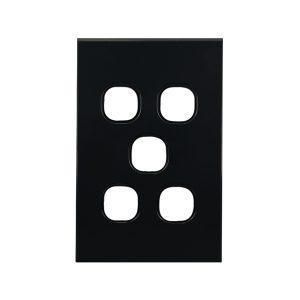 5 Gang Grid Plate BLACK | BASIX S Series