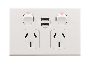 double power point with usb mechanism