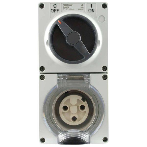 Switched Socket Outlet 20A 250V AC 3 Pin IP66