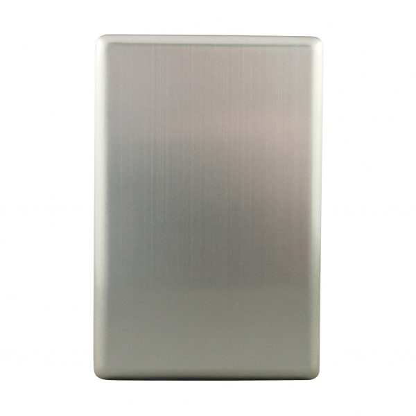 Stainless Steel Cover Plate Blank | Suits BASIX S Series