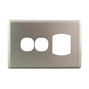 Stainless Steel Cover Plate Single Power Point with Extra Switch
