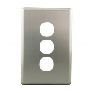 Stainless Steel Cover Plate 3 Gang | Suits BASIX S Series
