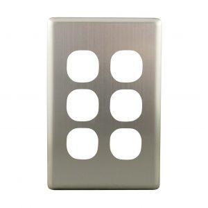 Stainless Steel Cover Plate 6 Gang | Suits BASIX S Series