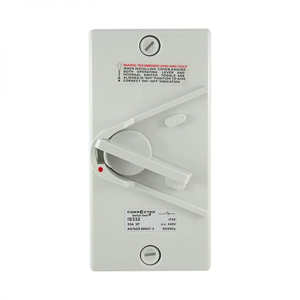 32A Isolator Switch 3 Pole 500V AC IP66