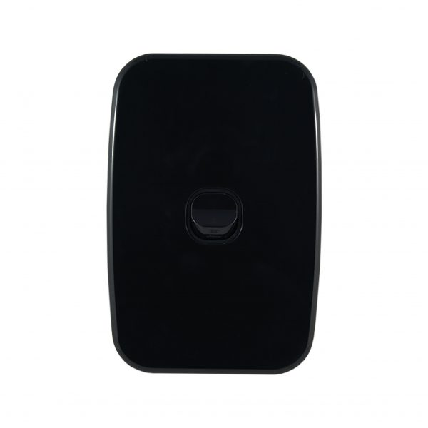 Light Switch 1 Gang Vertical Black 10A | LUNA Series
