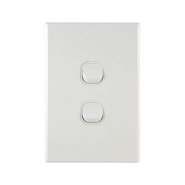 GEO Series 2 Gang Light Switch 10A 250V AC