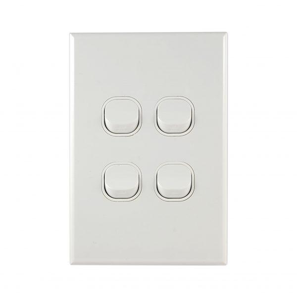 GEO Series Light Switch 4 Gang 10A 250V