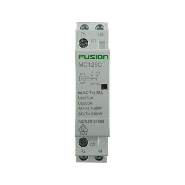 modular contactor 1 pole 25amp 2nc