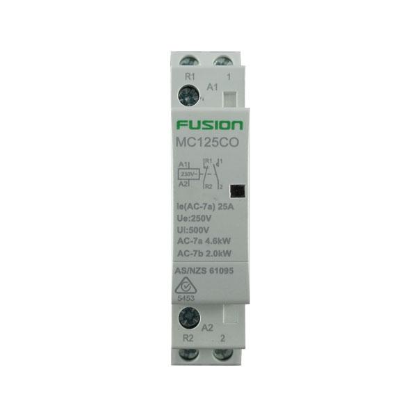 modular contactor 2 pole 25amp 1nc 1no