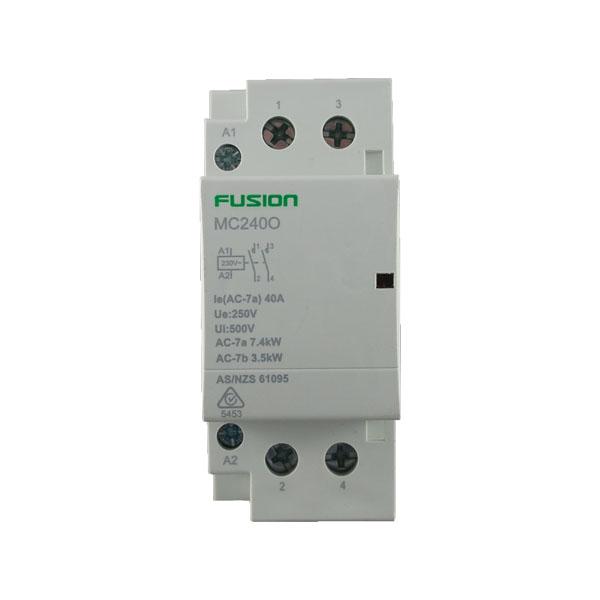 modular contactor 2 pole 40amp 2no