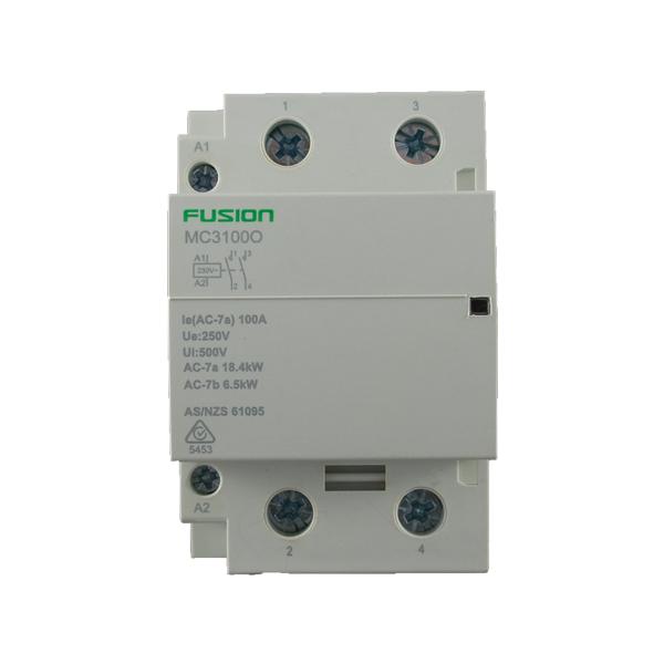 modular contactor 2 pole 100amp 2NO