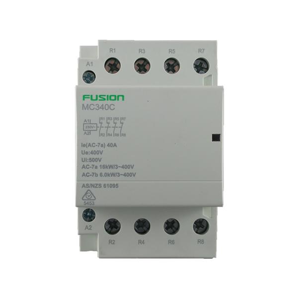 modular contactor 4 pole 40amp 4nc