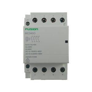 modular contactor 4 pole 40amp 4no