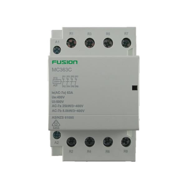 modular contactor 3 pole 63amp
