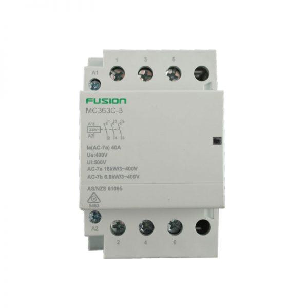 modular contactor 3 pole 63amp 3NC