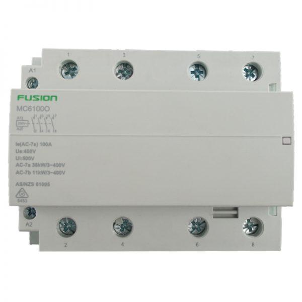 modular contactor 4 pole 100a