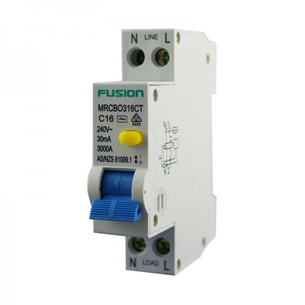 16A Mini RCBO Trade 1P+N 3kA 250V AC 30mA