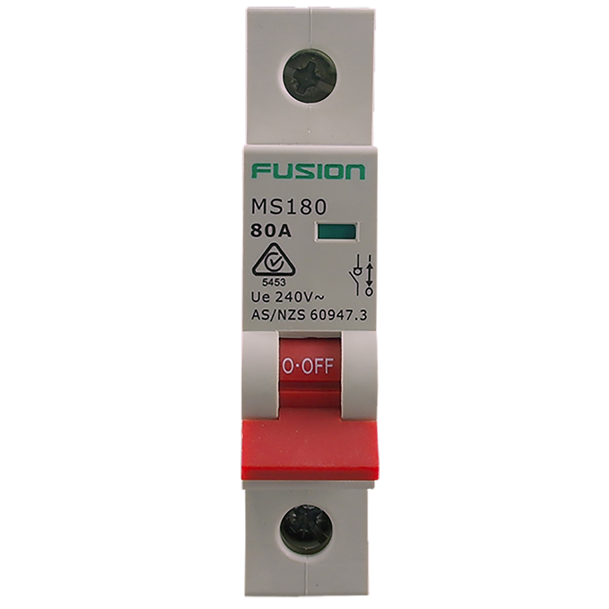 single pole main switch 80a