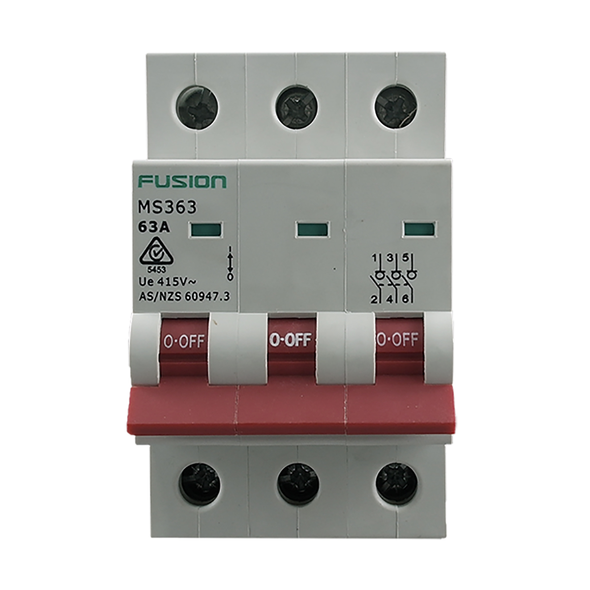 3 pole main switch 63A