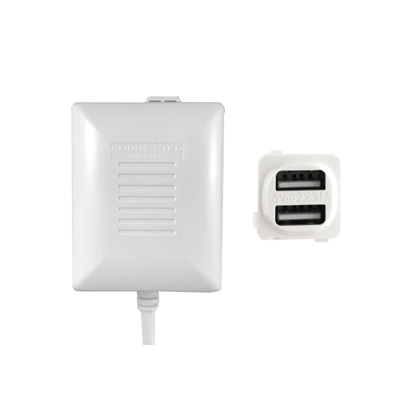 Dual USB Charger with Remote Transformer FAST CHARGE Output 6.2A