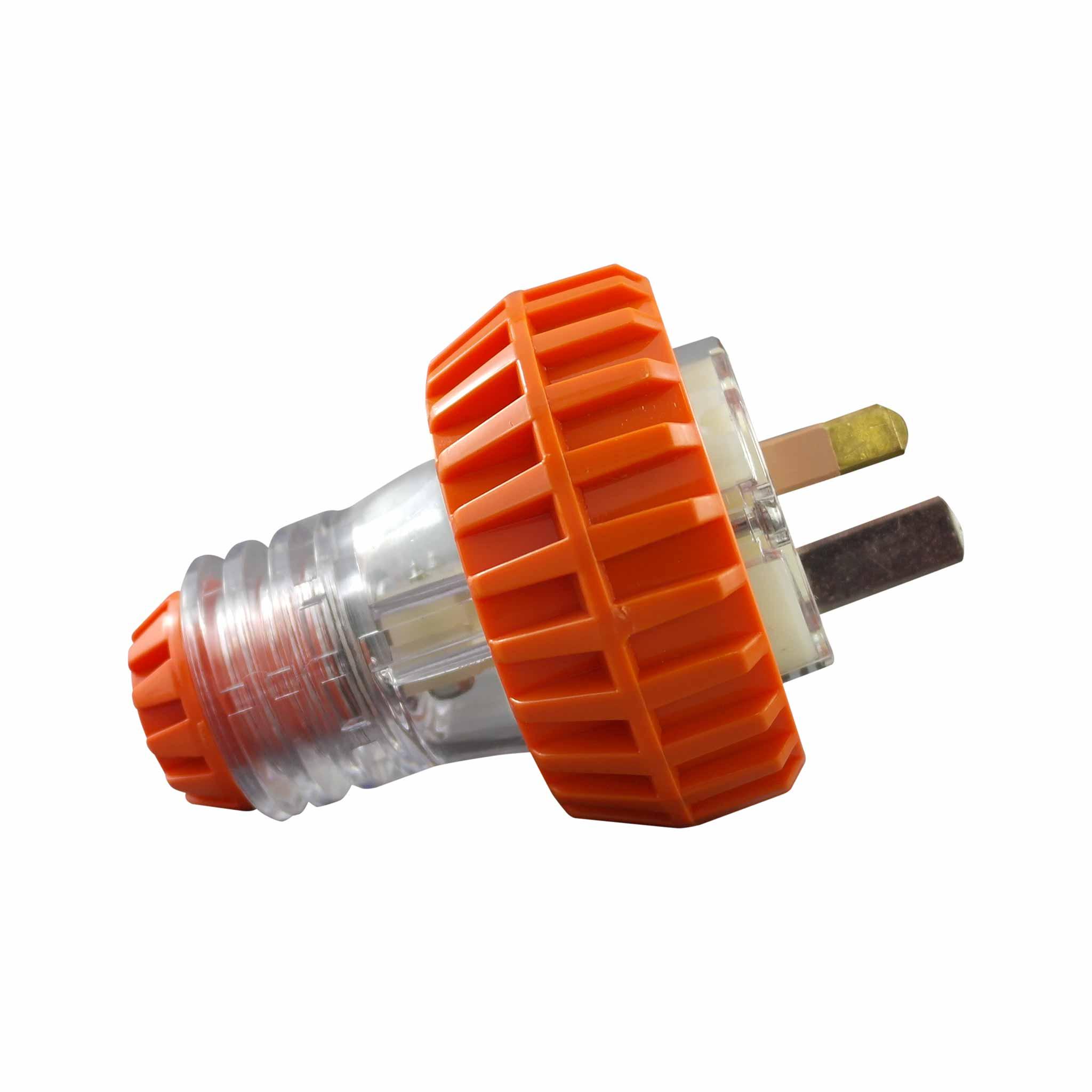Straight Plug 15A 3 Pin Flat 250V AC IP66
