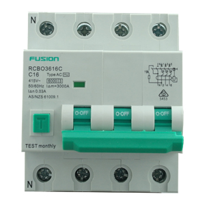6kA RCBO 3P+N 16A 500V