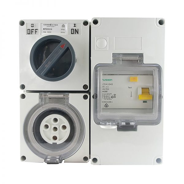 RCD Protected Outlet 20A 5 Pin 500V AC IP66