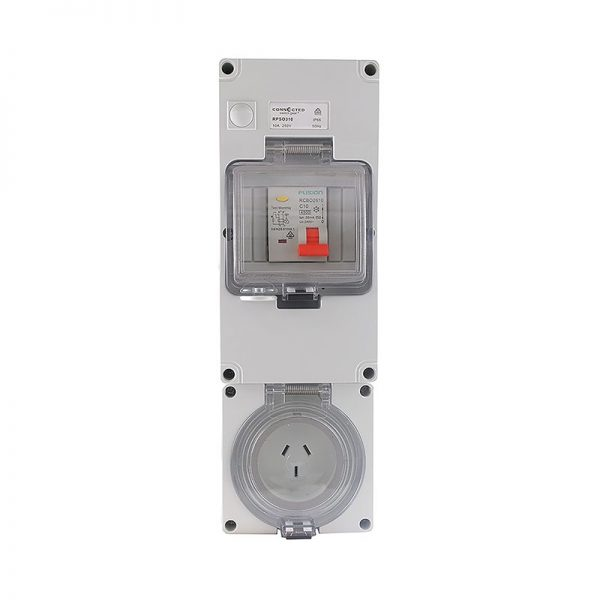 RCD Protected Socket Outlet 10A 3 Pin 250V AC IP66