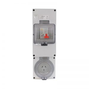 RCD Protected Socket Outlet 15A 3 Pin 250V AC IP66