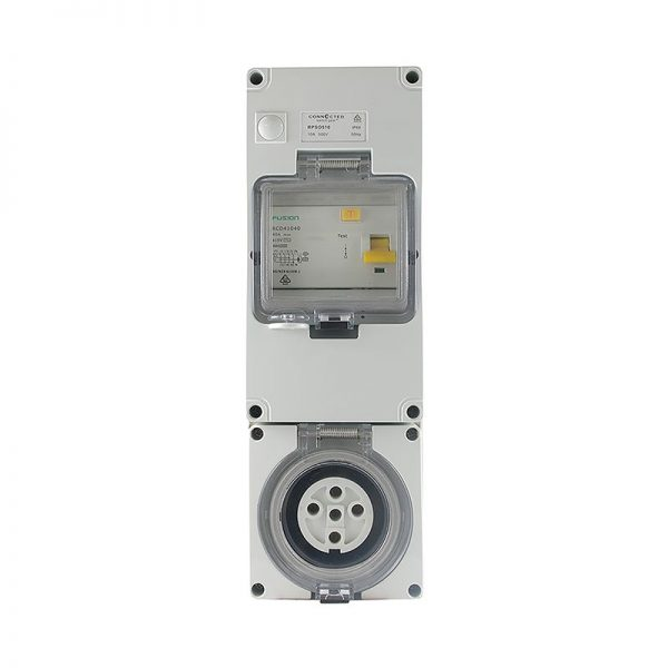 RCD Protected Socket Outlet 5 Pin 20A 500V AC IP66