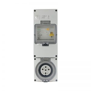 RCD Protected Socket Outlet 32A 500V AC 5 Pin IP66