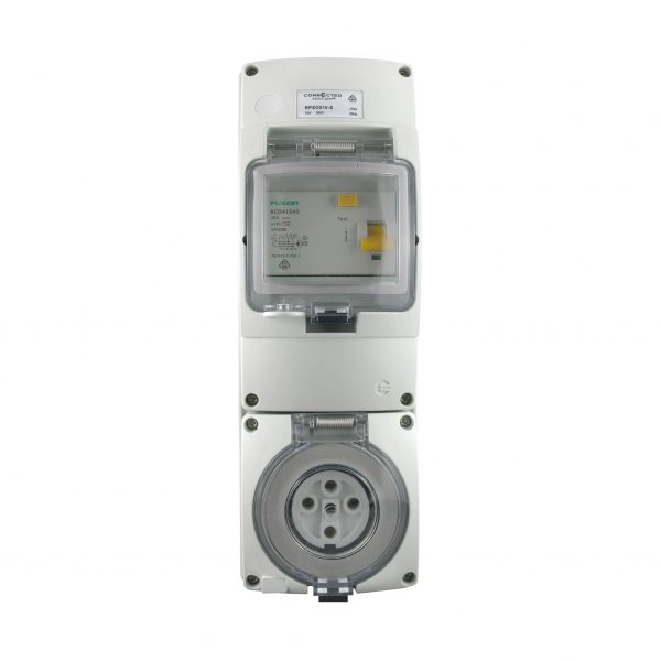 RCD Protected Socket Outlet | 5 Pin 32A 500V AC IP66
