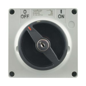 Key Lock Switch 63A 500V AC 3 Pole IP66