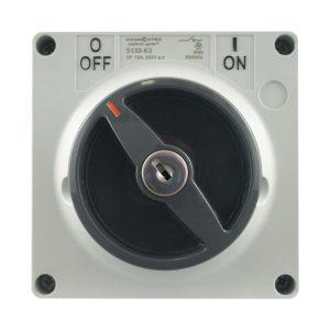 Key Lock Switch 63A 500V AC 3 Pole IP66