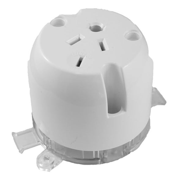 4 Pin Surface Socket Single with Loop 10A 250V/500V AC
