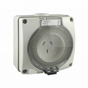 Socket Outlet 3 Pin 20A 250V AC IP66 IMPACT S Round Pin