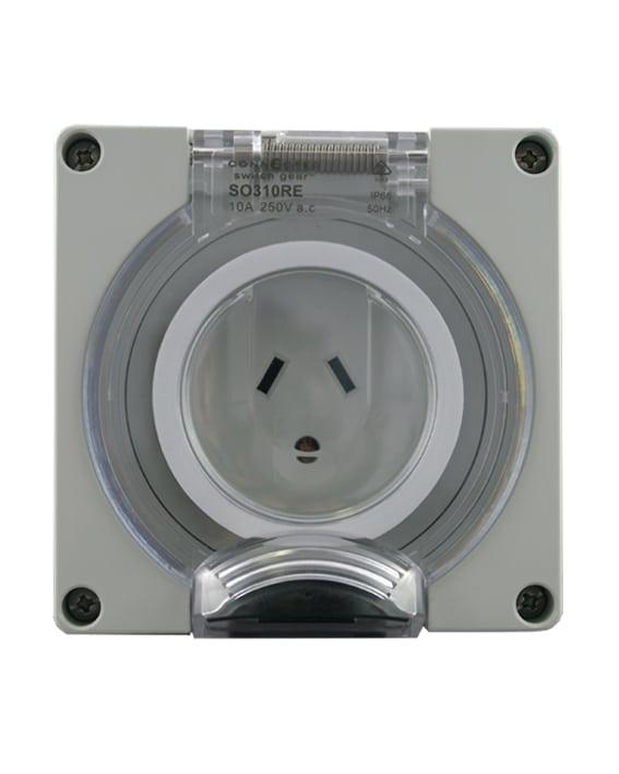 3 Pin Wall Socket Flat Pin IP66 Industrial Switchgear