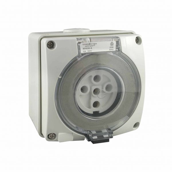 Socket Outlet 5 Pin 50A 500V AC IP66 IMPACT S