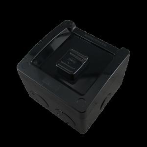 1 Gang Weatherproof Switch New Style 16A 250V AC IP53 BLACK